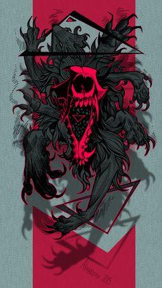 Triangular by Alaiaorax on DeviantArt Arte Horror, Horror Art, Arte Obscura, Bild Tattoos, Dope Art, Dark Fantasy Art, Skull Art, Japanese Art, Art Inspo