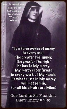 Our Lord to St. Faustina Kowalska (Diary Entry #723)
