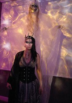 Forest witch  Ajattara  (Ajattaro Ajatar) with horn crown.
