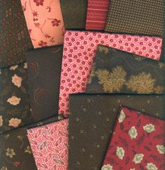 Makower Hot For Chocolate 13 Fat Quarter Bundle Patchwork Fabric
