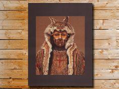 Native American Portrait Kirby Sattler by KirbySattlerPrints