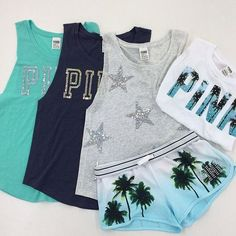 Everyday New Fashion: Cute Summer Outfits Pink Outfits, Cute Summer Outfits, Cute Outfits, Zendaya Outfits, Pink Love, Vs Pink, Leila, Victoria Secret Outfits, Victoria Secrets