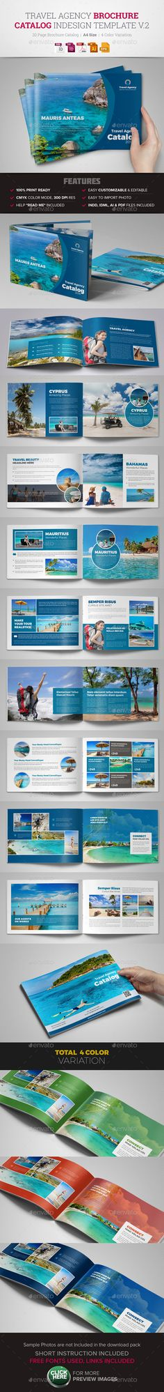 Travel Agency Brochure Catalog InDesign 2  InDesign Template • Download ➝ https://graphicriver.net/item/travel-agency-brochure-catalog-indesign-2/10511731?ref=pxcr