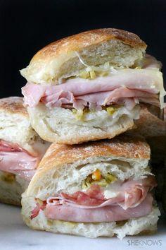 Mini Muffaletta Sandwiches
