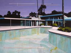 Empty swimming pool.  (Modern Home Empty Pool by Paul Davies 2009)