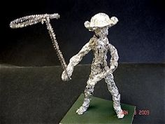 Great instructions for making aluminum foil people