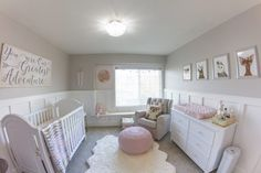 The touches of whimsical woodland are so perfect in this baby girl nursery!