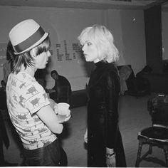 Iggy Pop and Deborah Harry from Blondie. Photo by Julia Gorton.