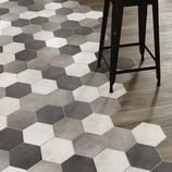 kitchen flooring Kche Bodenbelag Ideen f - Küchen Design, Floor Design, Tile Design, House Design, Interior Design, Design Ideas, Hexagon Tiles, Mosaic Tiles, Hex Tile