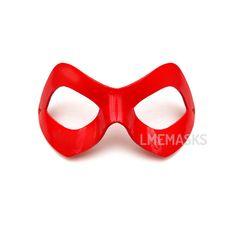 Harley Quinn Red Leather Mask Cosplay Batman Joker by LMEmasks