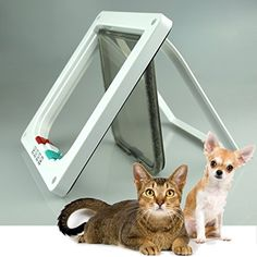 4Way Locking Indoor Outdoor Pet Door Kit For Cat And Small Dog With  Telescopic Frame 3