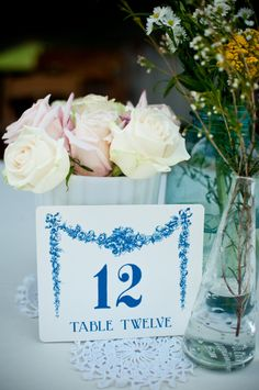 Vintage wedding table number from Etsy