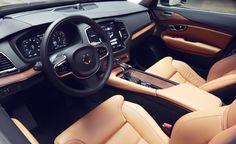 2017 Volvo XC90 interior, steering wheel, gear shift knob