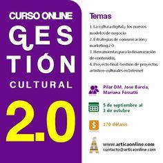 Gestión Cultural 2.0. Curso online. Comienza el 5 de septiembre de 2012