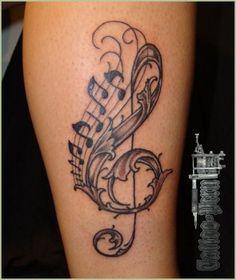 De Notas Musicales Apela A La Creatividadattachmenttattoo Musical