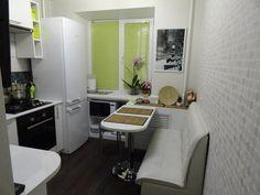 Дизайн угловой белой кухни 5,7 кв.м (6 фото)