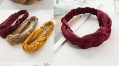 How To Make Headbands, Liberty Fabric, Hair Band, Knots, Braids, Beautiful, Youtube, Scarf Hair, Craft Videos