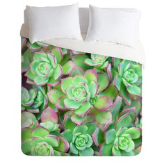 Lisa Argyropoulos Succulents Color Duvet Cover | DENY Designs Home Accessories