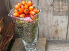 Rózsák Kertje Virág és Dekor: 3 talpas pohár őszi dekorral