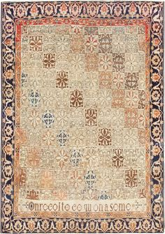 Antique Persian Mohtashem Kashan Carpet 47483 Main Image - By Nazmiyal  http://nazmiyalantiquerugs.com/antique-rugs/antique-product-type/fine-antique-persian-mohtashem-kashan-carpet-47483/
