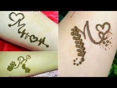 3 different M letter mehndi design, Alphabet mehendi tattoo, Cute henna tattoo - نقش حناء - Henna Designs Hand Small Henna Designs, Pretty Henna Designs, Henna Tattoo Designs Simple, Latest Arabic Mehndi Designs, Mehndi Designs Book, Modern Mehndi Designs, Mehndi Design Photos, Mehndi Designs For Fingers, Mehndi Images