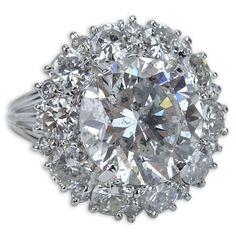 Carat Diamond and 18 Karat White Gold Ring – Kodner Galleries Ceylon Sapphire, White Gold Rings, Diamond Jewelry, Auction, Gems, Bronze, Antiques, Gallery, Silver