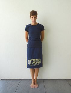 University of Pittsburgh T Shirt Skirt / Pitt Panthers / by ohzie