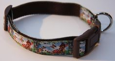 "Bambi Inspired 1"" Dog Collar. $15.00. Find Bonzai Gifts on Facebook for more!"
