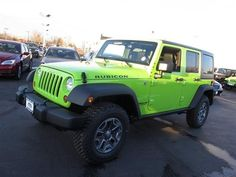 2013 Green Jeep Wrangler Unlimited Rubicon http://www.iseecars.com/used-cars/used-jeep-wrangler-for-sale