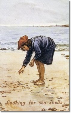 Cicely Mary Barker - Other Miscellaneous Works - Looking for Sea Shells Painting
