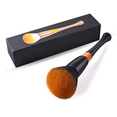 Powder Makeup Brush, FITDON Professional Kabuki Brush for Face Full Coverage Mineral Powder Foundation Blending Blush Buffing Applicator Made with Cruelty Free Synthetic Bristles Best Powder Foundation, How To Apply Foundation, Foundation Brush, It Cosmetics Brushes, Eyeshadow Brushes, Makeup Brushes, How To Apply Blush, How To Apply Makeup, Handmade Cosmetics