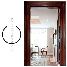 Eric Cohler Design: Entry Space: #ECD #EricCohler #InteriorDesign