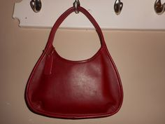 VINTAGE COACH 9 x 7 Red Leather Mini Sachel Shoulder Bag H8P-9020 W/Hang Tag by COACHCROSSING on Etsy
