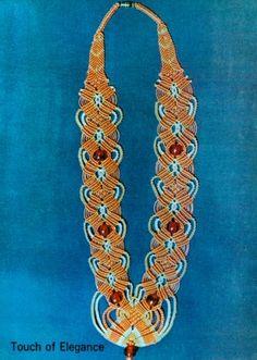 Vintage 70s Macrame Jewelry Patterns Bracelets Chokers Earrings
