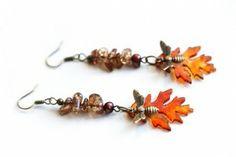 Oak Leaf Earrings by Musing Tree Studios