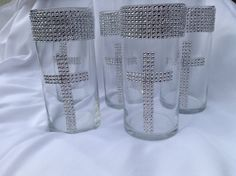 Christening Centerpiece Vase Set  You Choose by BringOutTheBling, $90.00