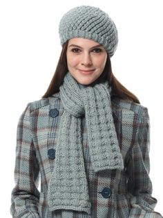 Scarf and Hat | Yarn | Free Knitting Patterns | Crochet Patterns | Yarnspirations