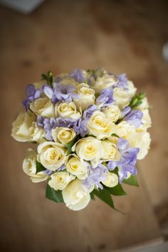 Yellow and violet bouquet