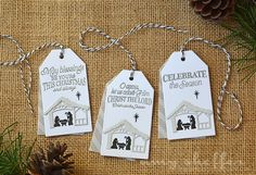 Layered Manger Tags by Amy Sheffer for Papertrey Ink (September 2015)