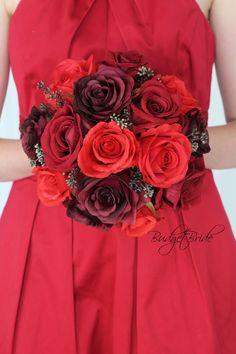 Wrist Corsage Wedding, Budget Bride, Bride Look, Bride Bouquets, Ribbon Colors, Artificial Flowers, Dark Red, Color Change, Brides