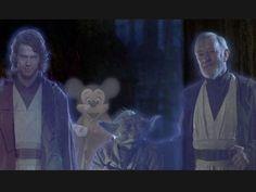Mickey se pasó al lado de la fuerza…
