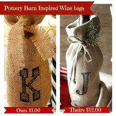 How to Make Pottery Barn Inspired Wine Bags
