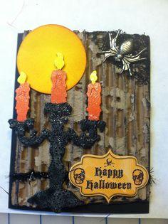 Tim Holtz Halloween inspired card