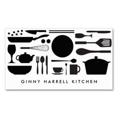 BLACK AND WHITE KITCHEN COLLAGE for Catering, Chef Business Card Templates. This great business card design is available for customization. All text style, colors, sizes can be modified to fit your needs. Just click the image to learn more! Bakery Business Cards, Catering Business, Business Card Design, Catering Companies, Gray And White Kitchen, Black And White, Food Logo Design, Cafe Design, Visiting Card Design