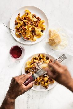 Hand-Cut Pappardelle with Mushroom Ragu Heirloom Tomatoes, Cherry Tomatoes, Parmesan Rind, In Season Produce, Ground Meat, Cooking Videos, Fall Food, Rice Dishes, How To Cook Pasta