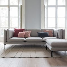 Douglas sofa collection is a timeless contemporary design characterised by beautiful lozenge shaped cushion forms, held inside of a slimline square structure. Beautiful Living Rooms, Cozy Living Rooms, Living Room Colors, New Living Room, Living Room Sofa, Home And Living, Living Room Decor, Snug Room, My Ideal Home