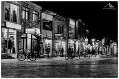 Ohrid at night in black and white by dimce.korunoski