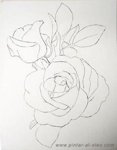 Como dibujar una rosa, cuadrícula   Pintar al óleo