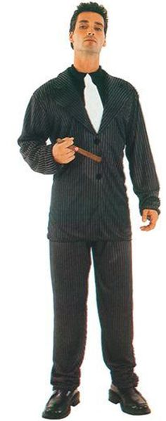 Budget Gangster Suit - this fancy dress costume is great for a themed party or Gangsters and Molls. One size only chest