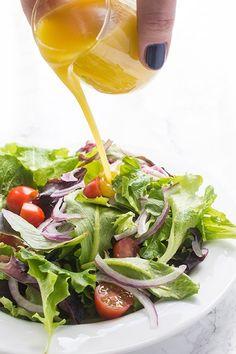 This simple, homemade honey mustardvinaigrette salad dressing recipetakes just minutes to make!